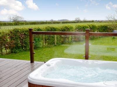 Hot Tub | Pheasant Lodge, Longtown, near Carlisle