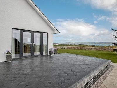 Relaxing patio area   Quarter Acre House, Kirkcolm, near Stranraer