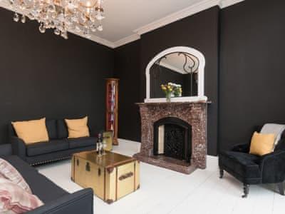 Elegantly decorated living room   Pendine Manor, Pendine, near Laugharne