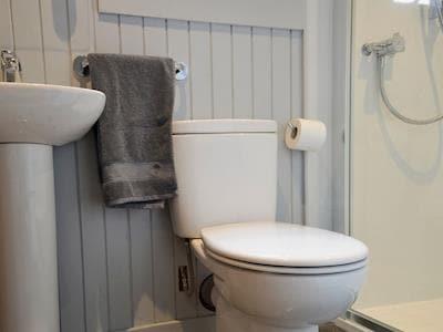 Shower room   Pine Marten Cabin - Garadh Buidhe Self Catering, between Spean Bridge and Fort William