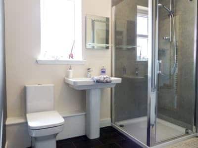 Shower room   Brackletter Lodge, Kilmonivaig, near Fort William
