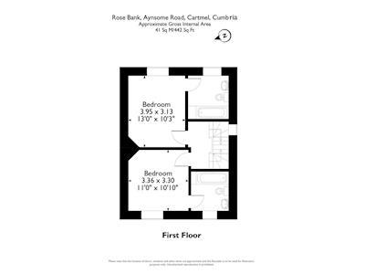 Floor plan of first floor | Rose Bank, Cartmel