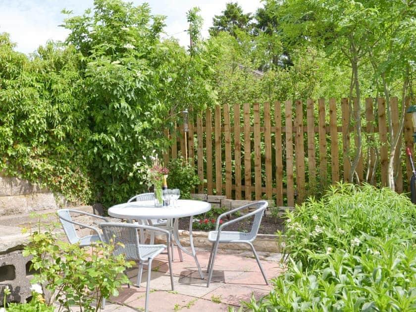 Outdoor furniture on patio in rear garden   Brunswick Cottage, Bongate, near Appleby-in-Westmorland