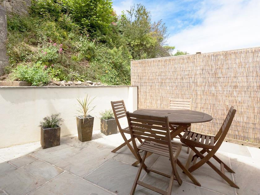 Delightful patio area | BerrysteadLower Flat, Salcombe