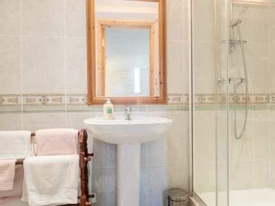 En-suite shower room   The Haybarn, Devauden, near Chepstow