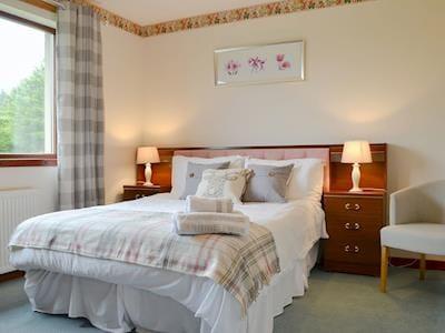 Spacious double bedroom | Maple - Wester Brae Highland Lodges, Culbokie, near Dingwall