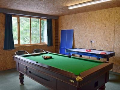 External games room    Solitude, Aberhafesp, near Newtown