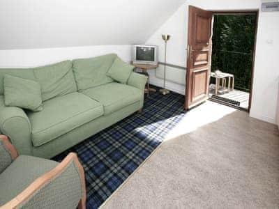 Comfortable open plan living  | Pine Cottage - Acharn Lodges, Killin