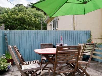 Delightful patio area | Cwmtwrch Cottage, Upper Cwmtwrch, near Ystradgynlais