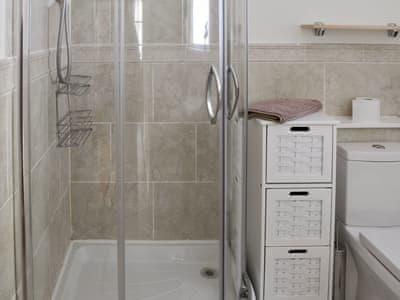 Shower room with heated towel rail | Ellerside, Cark, near Cartmel