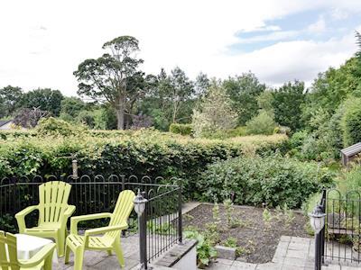 Attractive patio area and garden | Tigh-na-Rosen, Minnigaff, near Newton Stewart