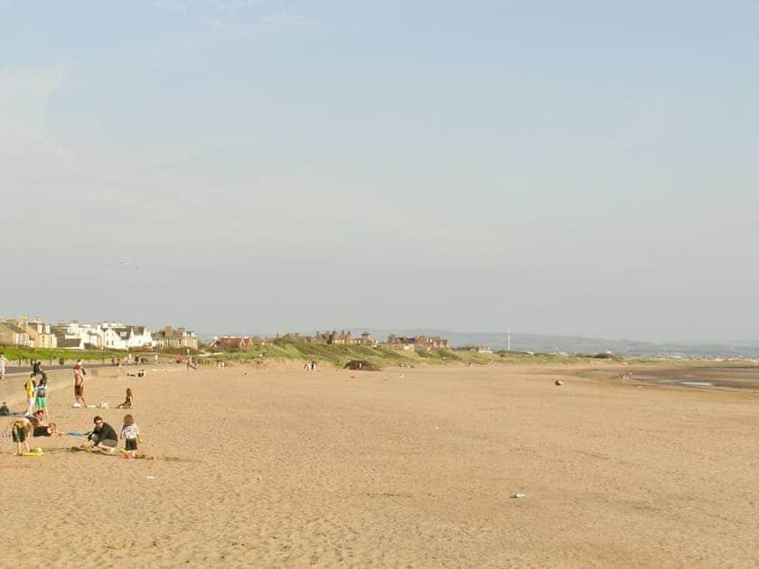 Wide sandy beach at Troon