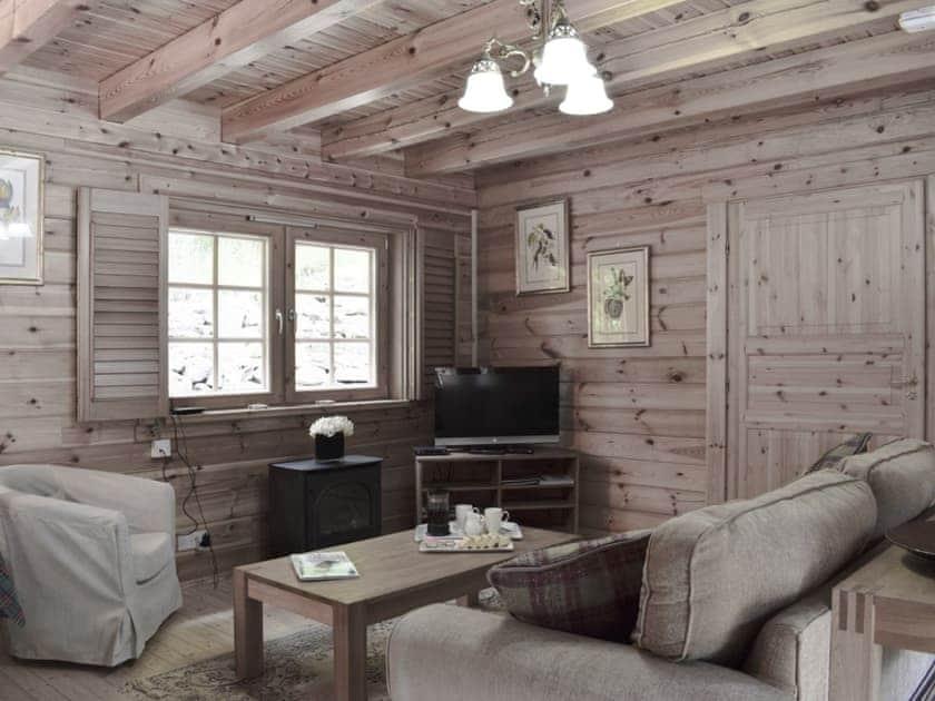 Comfortable lounge   Maple, Alder - Acharn Lodges, Killin