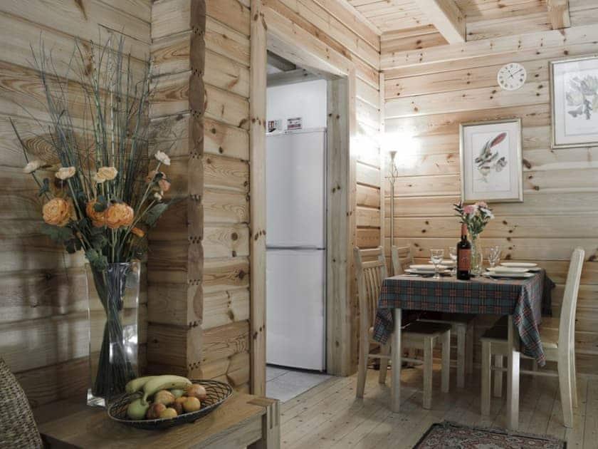 Quaint dining area   Alder, Maple - Acharn Lodges, Killin