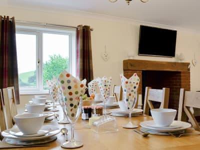 Well presented living/ dining room   Castle View, Llananno, near Llandrindod Wells