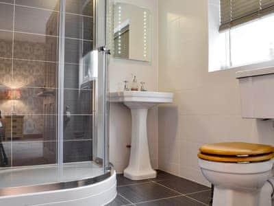 Ideal en-suite shower room   Castle View, Llananno, near Llandrindod Wells