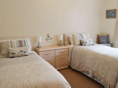 Twin bedroom   Murphy's Cottage, Rennington, near Alnwick