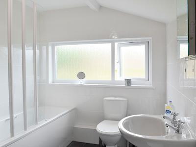Family bathroom with heated towel rail | Pendre, Tregaron