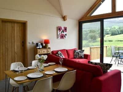 Inviting dining open plan living space | Wern Ddu Cottage, Penybontfawr, near Oswestry
