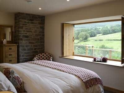 Bedroom overlooking spectacular scenery  | Wern Ddu Cottage, Penybontfawr, near Oswestry