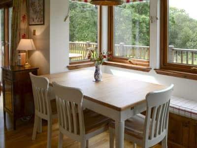 Inviting dining area | Allt Beag, Achintraid, near Lochcarron