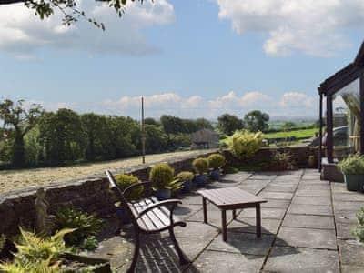 Patio   Gragareth Bungalow - Oysterber Farm Cottages, near Ingleton