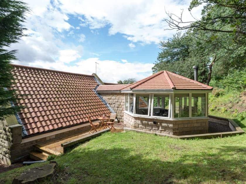 Sun room & garden | The Pamper Lodge, Sleights, near Whitby