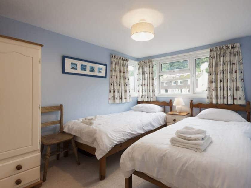Twin bedroom | Garston, Salcombe