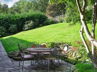 Peaceful patio area and spacious garden | Unerigg, Grasmere