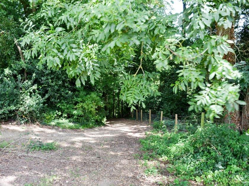 Footpath | Little Barn - Midgham Long Copse, Midgham, near Fordingbridge