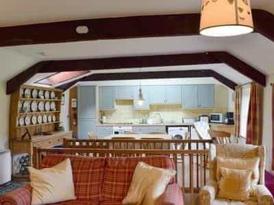 Spacious beamed, open-plan living/dining room  | Swallowholm, Arkengarthdale