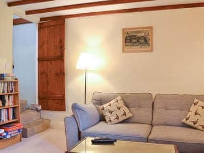 Comfortable beamed living room | Sunnybank, Summerbridge, near Pateley Bridge