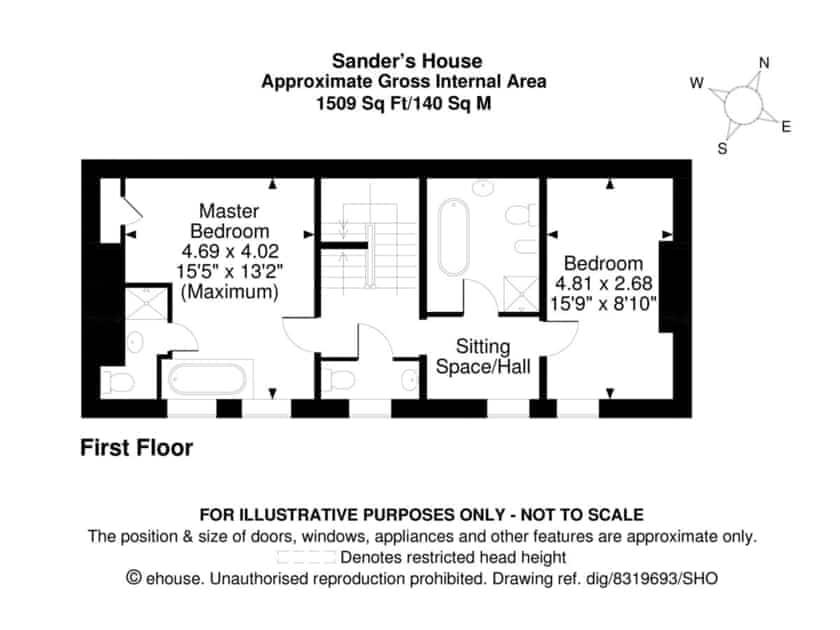 Floor plan of first floor | Sander's House, Whitby