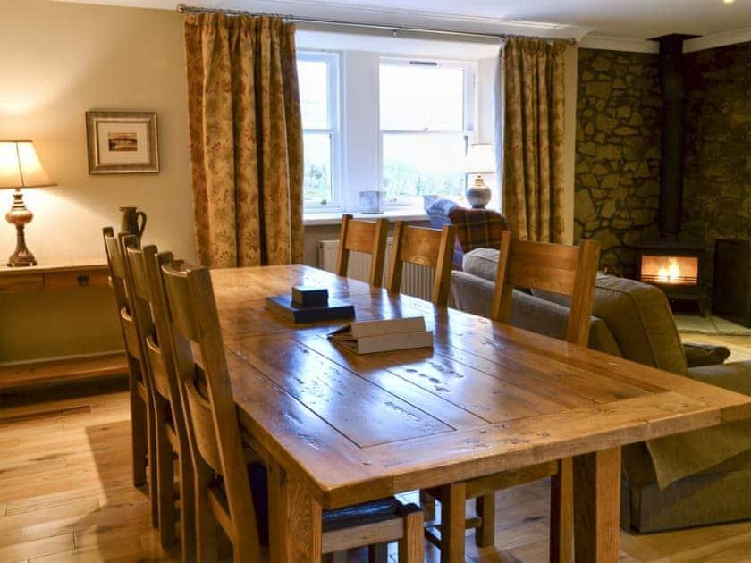 Living room/dining room   Oak Cottage - Mountherrick Holiday Cottages, Crawfordjohn, near Biggar