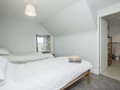 Comfortable twin bedroom | Larroch Farmhouse, Near Port William