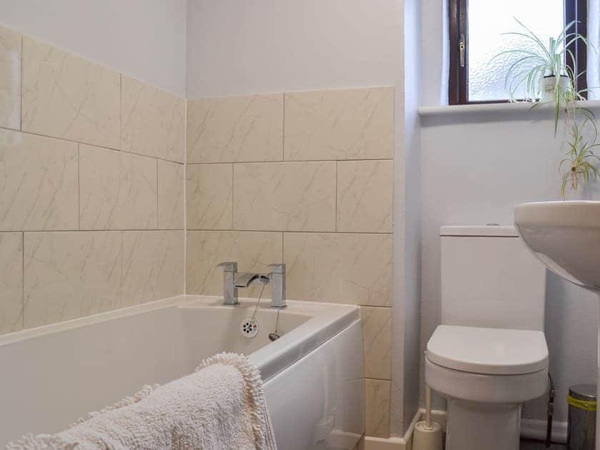 Lovely part-tiled bathroom    Highlands, Clearwell