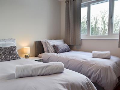 Twin bedroom | Herdman's Hideaway, Ffrwdgrech, near Brecon