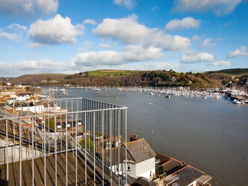 Fabulous views from the balcony | Manor Studio, Dartmouth
