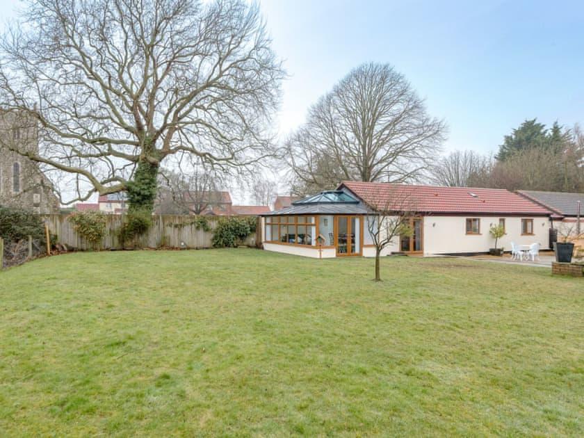 Large lawned garden area | Bay Cottage, Boughton, near Downham Market