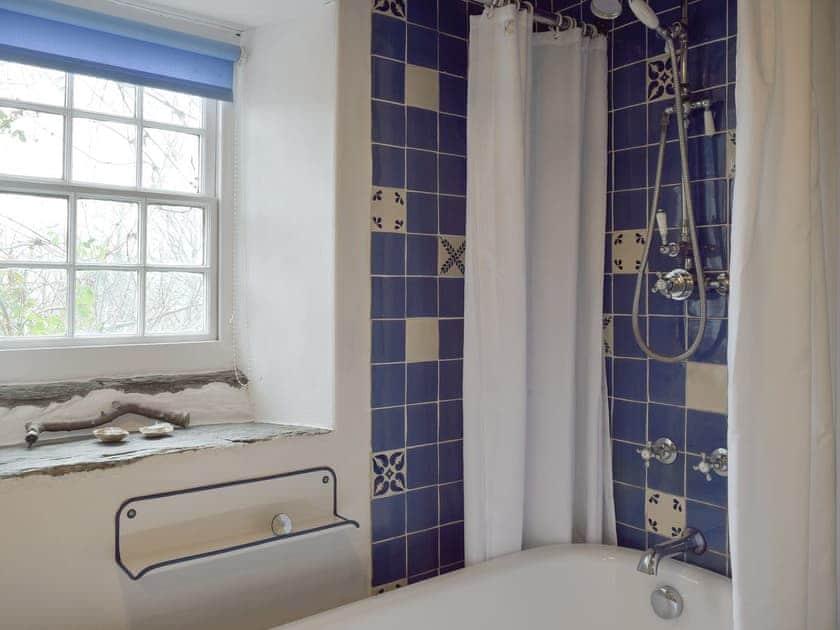 Ground floor bathroom with shower over bath   2 Penrhiw, Abercych, near Newcastle Emlyn