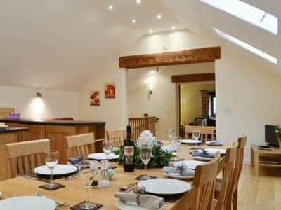 Stylish dining area | Tythe Barn, Grindleford