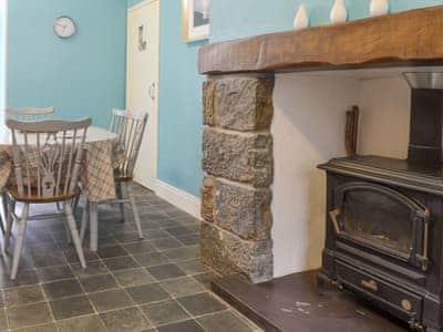 Wood burner in kitchen/diner | Yoke House - 5, near Pwllheli