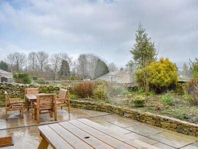 Spacious patio area | Prospect House, Thoralby, near Leyburn