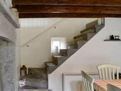 Uneven internal stone steps | Thea's Cottage, Satron near Gunnerside, Reeth