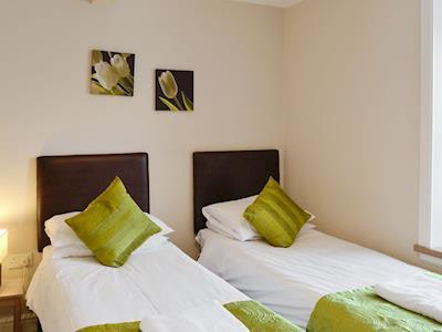 Comfortable twin bedroom | Bute - Portpatrick Holiday Homes, Portpatrick, near Stranraer