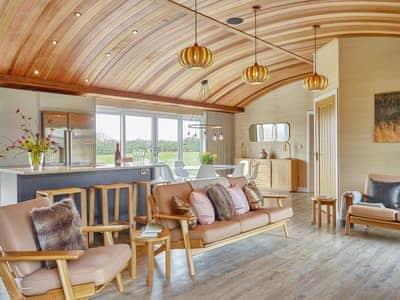 Open plan living space, furnished to a high standard   Pinelands Lodge - Bryn Tanat, Llansantffraid-ym-Mechain, near Oswestry