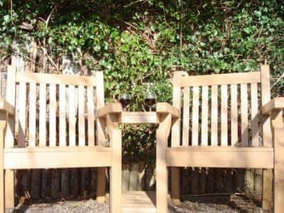 Outdoor furniture on patio | Fleet Cottage, Portree, Isle of Skye