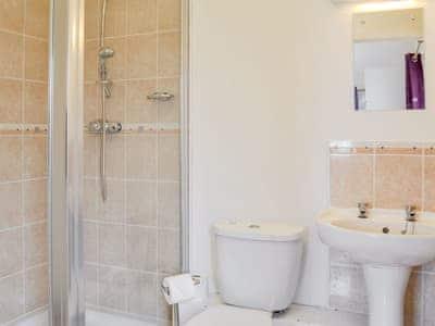 En-suite shower room   Maughold Cottage, Low Killantrae, near Port William