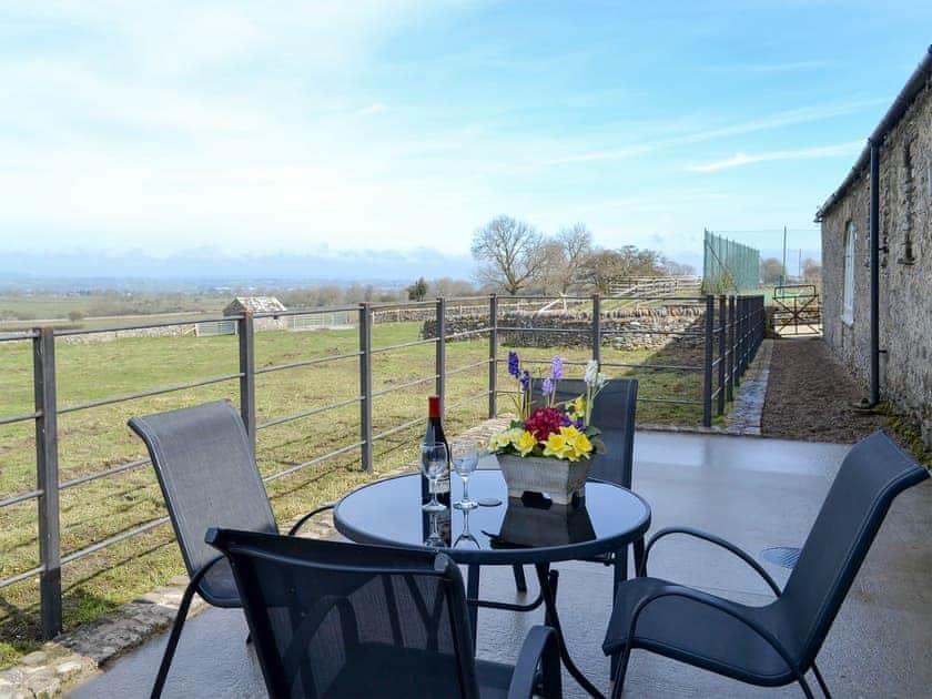Small patio with garden furniture   The Cottage at Northside Farm Retreat, Boldron, near Barnard Castle