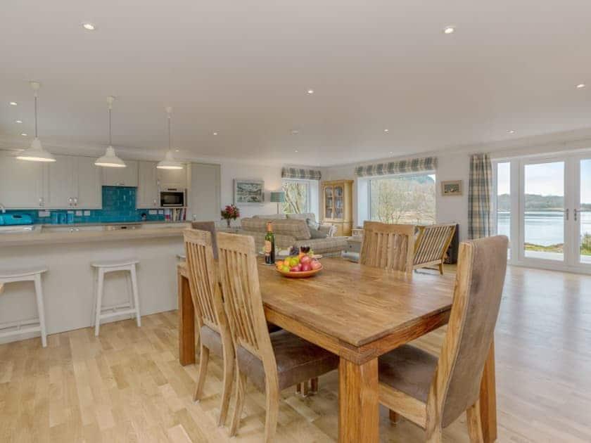 Well presented open plan living space | Kames Beach House, Kilmelford, near Oban